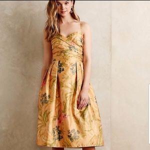 Anthropologie James Coviello Botanica Yellow Dress